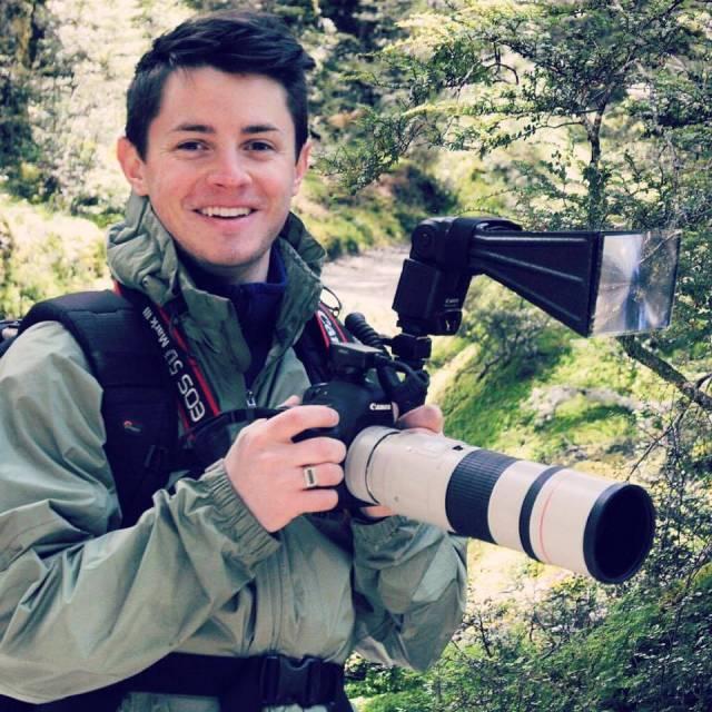 Ben Mirin, birder and professional beatboxer.